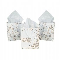 Gold Dot Medium Thank You Wedding Gift Bag